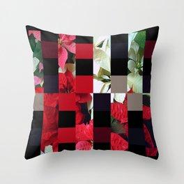 Mixed color Poinsettias 1 Art Rectangles 15 Throw Pillow
