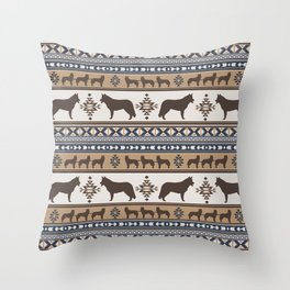 Boho dogs | Siberian Husky tan Throw Pillow