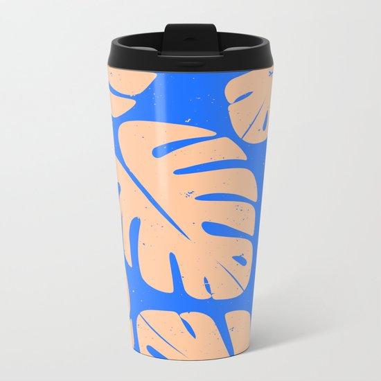 Monstera Leaf Print 5 Metal Travel Mug