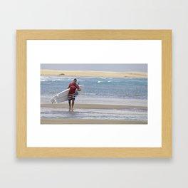 SUP IN JERI Framed Art Print
