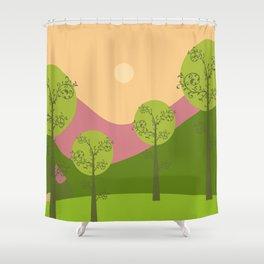 Kawai landscape breaking Dawn Shower Curtain