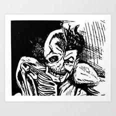 Half Man, Half Skelton Art Print