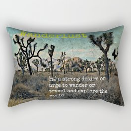 Wanderlust In The Wild Travel Quote Rectangular Pillow