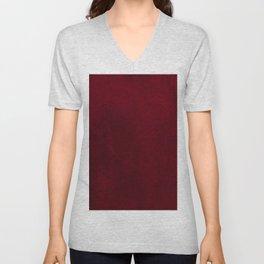 VELVET DESIGN - red, dark, burgundy Unisex V-Neck