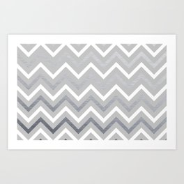 Metallic Zigzag Art Print