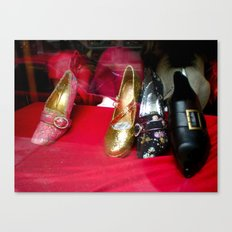 Costume Shop Shoes Canvas Print