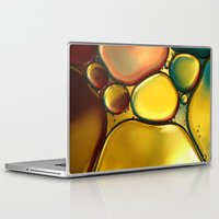 oil Laptop & iPad Skins featuring Oil & Water Abstract II by Sharon Johnstone