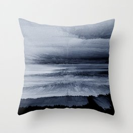 Abstract black painting 2 Throw Pillow