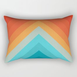 Geometric bands 09 Rectangular Pillow