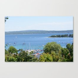Harbr Springs Bay -View from Bluff (3) Canvas Print
