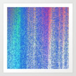 Perlin Noise Random Circle Gradient Wave 1 Art Print