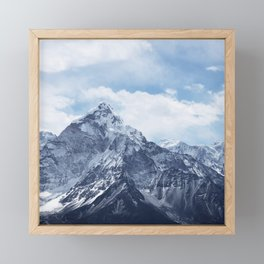 Snowy Mountain Peaks Framed Mini Art Print
