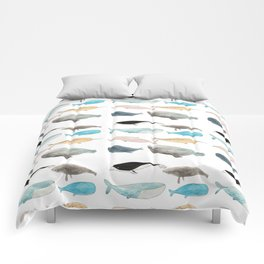 Group of whales Comforters
