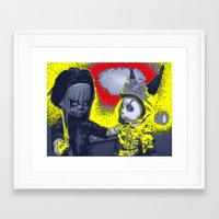 comic Framed Art Prints featuring comic by Kathead Tarot/David Rivera