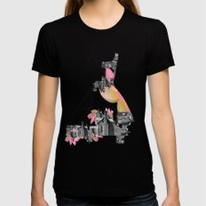 Filled with city MEDIUM Black Womens Fitted Tee