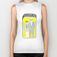 rushmore Biker Tanks featuring Rushmore by Mexican Zebra