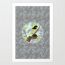 Nesting Goldfinches Art Print