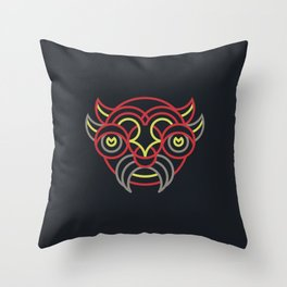 Diablada Mask Throw Pillow