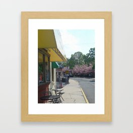 Walk By Cafe Framed Art Print