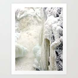 Long braid of Winter Sister Art Print