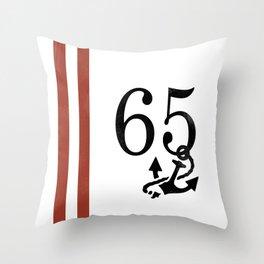 Nautical Number Print Throw Pillow