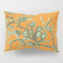Green on Orange Pillow Sham