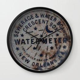 Street Water Meter - New Orleans LA Wall Clock