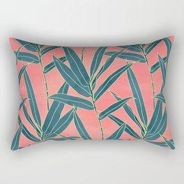 Modern coral and blue foliage design Rectangular Pillow