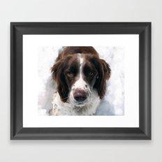 Freckles in Snow Framed Art Print