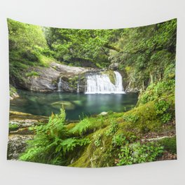 A magic lake deep in the woods Wall Tapestry