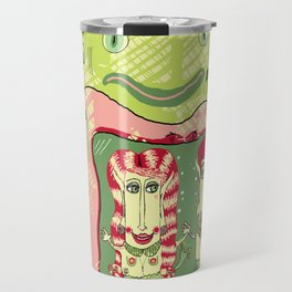 Sea Home of the Hipster Mer-Couple Travel Mug