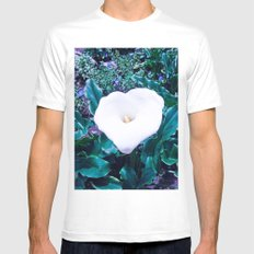 FLOWER CARTRIDGE Mens Fitted Tee White SMALL