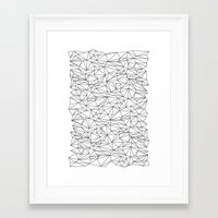 the wire Framed Art Prints featuring Geometric Wire by Maiko Nagao