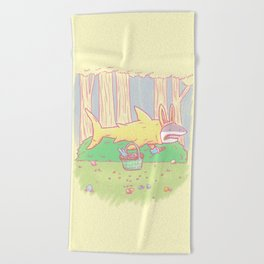 The Easter Bunny Shark Beach Towel