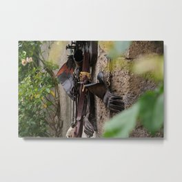 Falconers supplies hanging on the wall Metal Print
