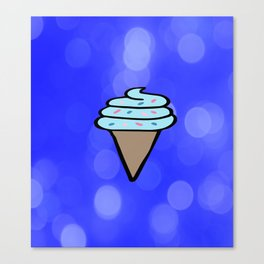 Ice Cream Sign, Ice Cream Print, Ice Cream Cone Art, Wall Art, Society6, Summer, Cute, Tropical, Canvas Print