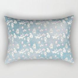 Bunnies Bunny in heaven-Cute Animal illustration pattern Rectangular Pillow