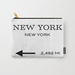 This Way To New York Typography Carry-All Pouch