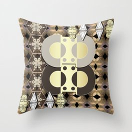 The Ornament of Art Deco Throw Pillow