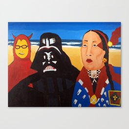 The Devil, Darth vader and Indian Chief Canvas Print