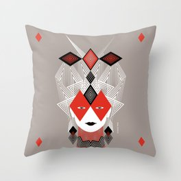 The Queen of diamonds Throw Pillow