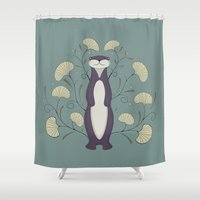 otter Shower Curtains featuring Otter by Sophie Mitchell
