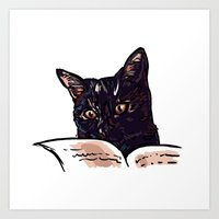 ripley Art Prints featuring Ripley Reads by Helenasia