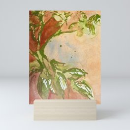 Leaves of Green Abstract Painting Mini Art Print