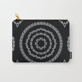 Typographic Pattern – A (Helvetica) Carry-All Pouch