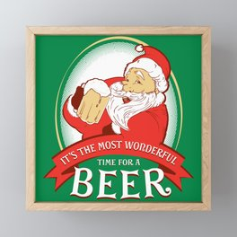 IT'S THE MOST WONDERFUL TIME FOR A BEER Framed Mini Art Print