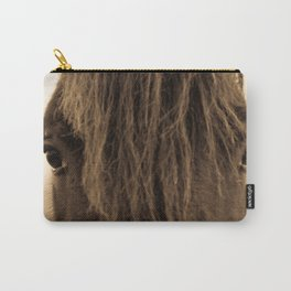 English horse in sepia tones Carry-All Pouch