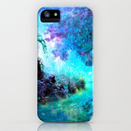 Fantasy Garden Path Turquoise Purple iPhone Case