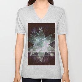 Galaxy Sacred Geometry : Stellated Icoshadron dark Unisex V-Neck