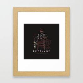 BTS JIN EPIPHANY LINE ART Framed Art Print